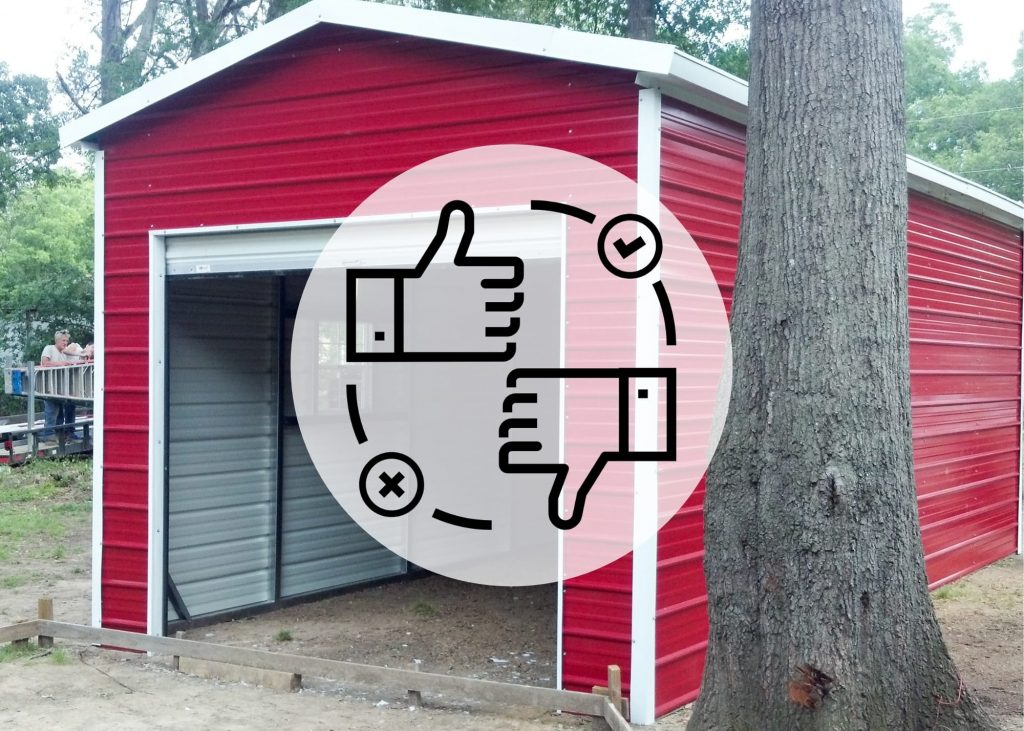 pros and cons of a portable steel garage