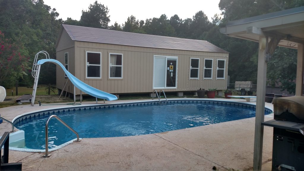 advantages of prefab cabin includes beside swimming pool