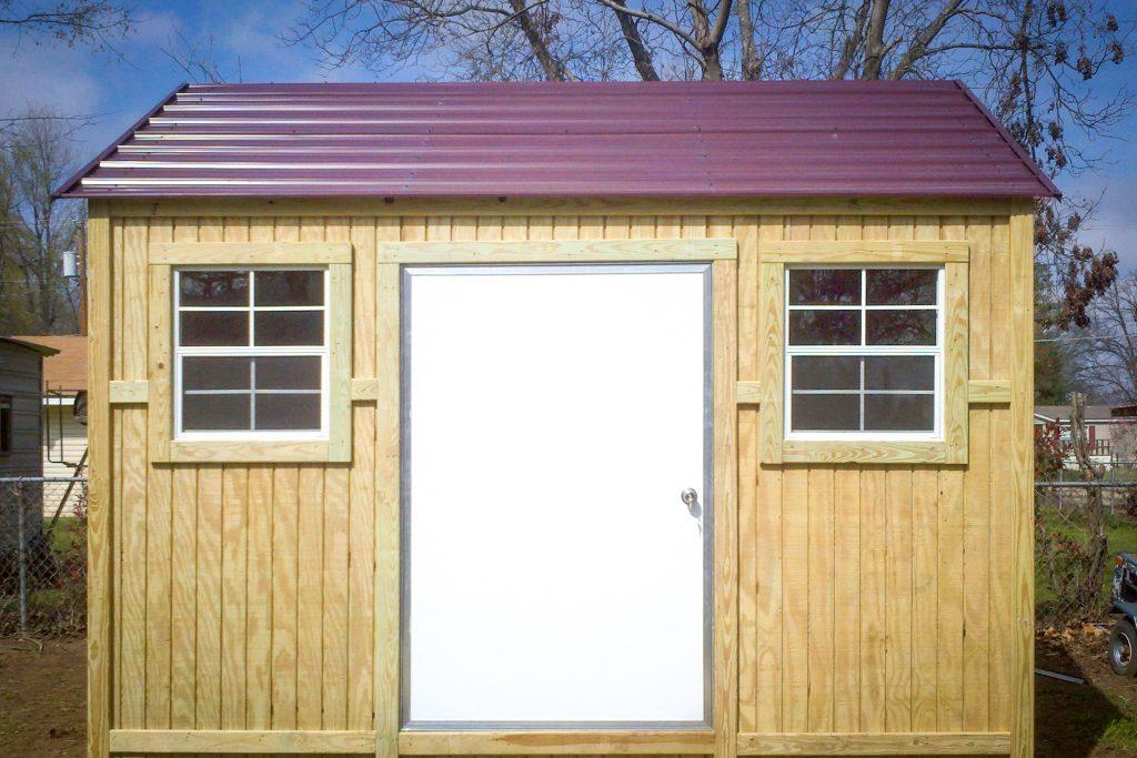 wood garage shed